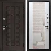 Входная дверь с зеркалом (в квартиру) New Line Сенатор СБ-16 Лиственница белая