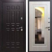 Толстая дверь с зеркалом (в квартиру) New Line М-8 Зеркало Беленый дуб