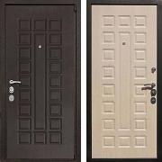 Металлическая взломостойкая  дверь (в квартиру) New Line М-4А Mottura Беленый дуб
