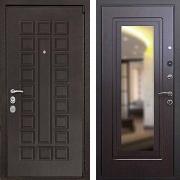 Металлическая дверь с зеркалом (в квартиру) New Line М-4А Mottura Зеркало Венге