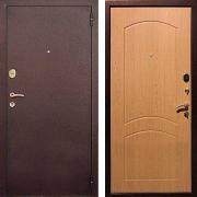 Входная металлическая дверь (в квартиру) New Line М-1А Дуб светлый