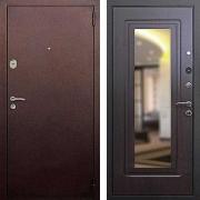 Входная дверь с зеркалом (в квартиру) New Line 1А Зеркало Венге
