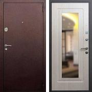Входная дверь с зеркалом (в квартиру) New Line 1А Зеркало Беленый Дуб