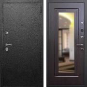 Металлическая дверь с зеркалом (в квартиру) New Line Верона 6 Зеркало Венге
