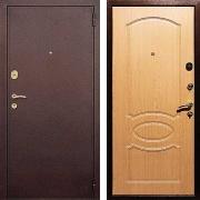 Входная стальная дверь (в квартиру) New Line М-2 Дуб светлый