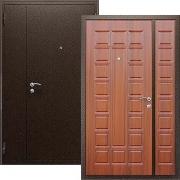 Двустворчатая металлическая дверь (в квартиру или дом) New Line А-214