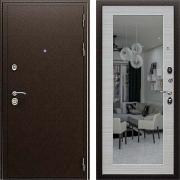 Металлическая дверь с зеркалом (в квартиру или дом) New Line А-305