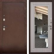 Металлическая дверь с зеркалом (в квартиру) New Line S-212