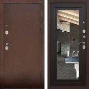 Металлическая дверь с зеркалом (в квартиру) New Line S-211