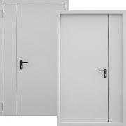 Металлическая дверь двупольная (противопожарная) New Line S-237