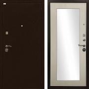 Звукоизолирующая металлическая дверь с зеркалом (в квартиру или дом) New Line R-310
