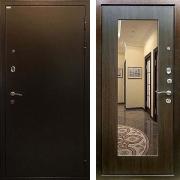 Металлическая дверь (в квартиру с зеркалом) New Line R-228