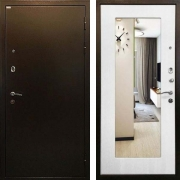 Металлическая дверь (в квартиру с зеркалом) New Line R-229