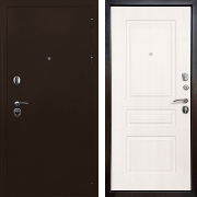 Дверь для квартиры металлическая (в квартиру или дом) New Line R Троя (Белый матовый)