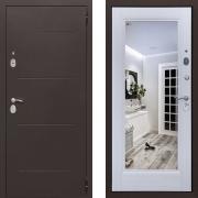 Входная дверь Йошкар Зеркало 100мм Сандал