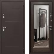 Входная дверь Йошкар Зеркало 100мм Венге